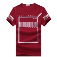 barcode shorts - summer new brand cotton t shirt men plus size xl o neck fitness barcode printed tshirt homme