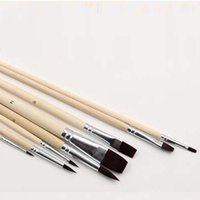 artist watercolour paints - Durable Set Nylon Hair Artist Watercolour Acrylic Oil Painting Paint Brush Set Supply Painting Brush Wood Handle