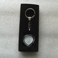 Дешевый Пустое изображение-пустой кристалл сублимации личность Keychains настроить печать ваше изображение ключевые кольца свободная перевозка груза DHL / Fedex