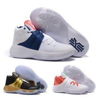 Wholesale latest kyrie irving shoes Kyrie Men s Basketball Shoe Zoom Air lighter air cushioning sneaker White Blue red US7 US12