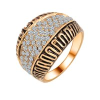 antique zircon rings - Full Zircon Ring vintage retro antique gold silver jewelry for men and women anillos mujer anelli aneis CS12