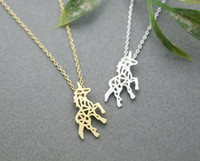 best horses - Hot sale hippie chic hollow out the horse pendant necklace Bohemian fashion women Neclaces ms thin necklace festival best gift