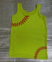 Wholesale Softball yellow seam RED Stitch Vest also suit GYM Men women Tight Vest for Men women with Wicking Sports and Fitness also