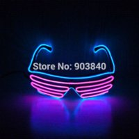 Wholesale 2015 Hot Sound activated switch plastic materials battery opperate Shutter el glasses for party show glasses lens material