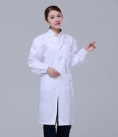 Wholesale Mens Womens Long Sleeve Lab Coat Scrub Medical Doctors Nurses Beautician Jacket Clothes Plus Size M XXL Brand New Good Quality
