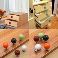 Wholesale 2016 New Design Cute Vintage Ceramic Door Knob Cabinet Drawer Wardrobe Cupboard Pull Handle store hot