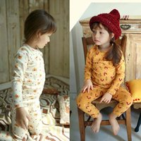 pajamas for children - Child Girls Pajamas Childrens Sleepwear Korean Girl Dress Autumn Winter Pajamas For Kids Children Clothes Kids Clothing Lovekiss C27312