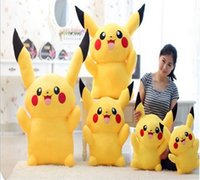 best white opening - In Stock Open Mouth Pikachu Plush dolls cm Poke plush toys cartoon poke Stuffed animals toys soft Christmas toys best Gifts