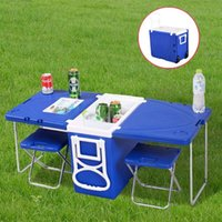 Wholesale Multi Function Rolling Cooler With Table And Chairs Picnic Camping Outdoor HW51118
