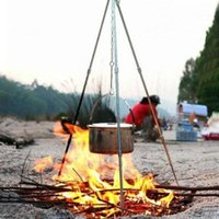 Wholesale Compact Lightweight Aluminum Camping Campfire Tripod with Adjustable Hang Chain