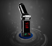 Wholesale 30pcs MIni size bc06 Bluetooth handsfree with dual USB charge ports FM transmitter car charger