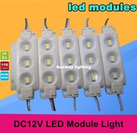 Wholesale led modules yellow SMD5630 Injection ABS Plastic leds W DC12V High Lumen led modules Backlights String White Warm White Red Blue