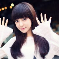 Wholesale Front Neat Bangs Hair Bangs Extension Clip In Hair Bangs Synthetic Hair Fringe Colors options