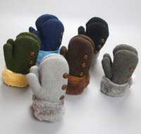 Garçons doigt moufle Avis-5 paire de gants d'hiver bébé garçon plein mitaines doigt d'enfant Feuille coton chaud fibres acryliques gants corde enfants mitaines solides tricotés