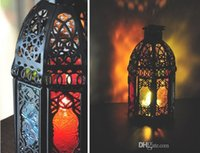 Wholesale New Arrival Morocco Black Iron Lantern Candle Holder For Wedding Favors Gift Home Decorations Supplies