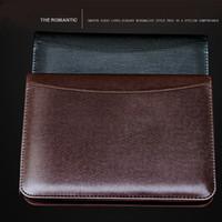 Gros-Nouvelle PU cuir Padfolio avec des calculatrices solaires Bloc-notes mémo notebook Pad Business Bureau A5 fournitures scolaires cadeau