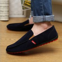 autumn drive - New Hot Sale Spring Autumn Fashion Men Shoes Mens Flats Casual Suede Shoes Comfortable Breathable Flats Driving Loafers