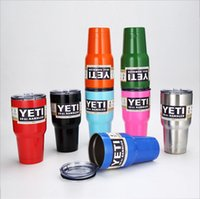 Wholesale Hot yeti cup Powder Coated oz Yeti Rambler YETI Coolers Rambler Tumbler Stainless Steel Double Walled Travel Mug YETI cup