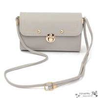 Wholesale 2016 Sale Cute Womens Handbags Leather Shoulder Crossbody Bags Brand Designer Small Flap Lady Sling Messenger Bag Rivet Fresh Style Bolsa