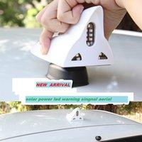Wholesale solar power High quality led Car modified dedicated radio antenna FM signal shark fin antenna