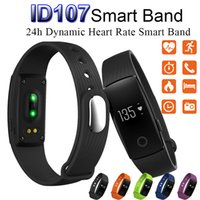 android partner - Smart Watch ID107 Bluetooth Smart Bracelet with Heart Rate Monitor Fitness Tracker Sports Wrist Watches BT Partner for Android IOS Phone