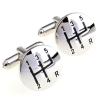 Wholesale Automobile transmission gear cufflinks male French shirt cuff links for men s Jewelry