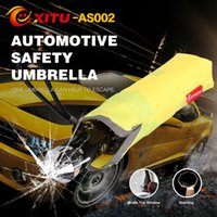 Wholesale Automotive Safety Umbrella with High Strength Steel Emergency Hammer Reflective Warning Automatic Open Close Umbrella AS002