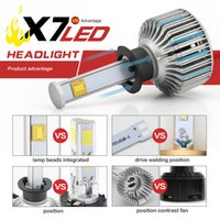 Wholesale 2PC W LM H1 X7 LED Drive Bulbs KIT k Fog Driving Headlight Light Lamp DC9V V