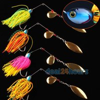 bass skirts - Mixed Color Spinner Fishing Lures Hook Bass Cod Fish Bait Skirt Tackle order lt no track