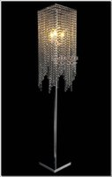 Wholesale Modern Popular Crystal Floor Lamp Chrome Floor Stand lighting Meerosee stand lighting FL10008