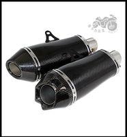 acura carbon fiber - Universal Modified Full Carbon Fiber Exhaust Pipe CNC Akrapovic Exhaust Muffler Pipe RSZ CBR YZF YBR TTR FZR XJ600 Kawasaki Z800