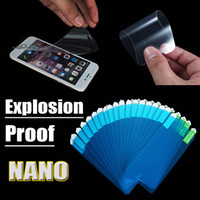 Wholesale Nano Soft Anti Shock Explosion Proof Screen Protector Protective Film Guard For iPhone S Plus S Samsung S7 S6 Edge Note MOQ