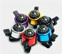 Wholesale NEW Small Mini Aluminum alloy Bicycle Bell with Compass Brand New High Quality Bike Handlebar Ring Horn