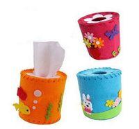 Wholesale DIY Nonwoven Tissue Tube Kids Children Kindergarten Do It Yourself Arts and Crafts Creativity Toys