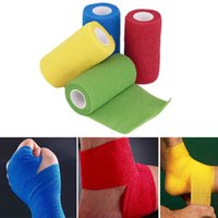 Wholesale Self Adhering Bandage Wraps Elastic First Aid Tape Stretch m x cm frees hipping