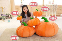nonwoven fabric - 2016 Halloween Toys Party Pumpkin Plush Dolls Toys Cushion Pillow Stuffed Decoration Doll Plush Pumpkin Soft Kawaii Baby Toy Christmas Gifts