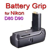 Wholesale LCD Timer Vertical Battery Grip for Nikon D80 D90 MB D80 MB D90 with ML L3 Wireless Infrared Remote Control
