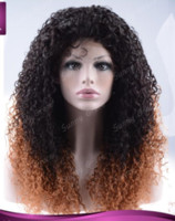 add lace wig - Customed wig density add g hair glueless chinese hair silk top lace front wig loose wave ombre color b wig