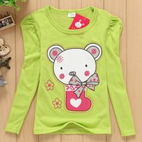 Wholesale 3 Ychildren kids girl t shirt Summer catoon baby spuff long sleeve clothing t shirt wholesales TT05 DH