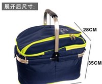 Wholesale 2016 layers large Outdoor Picnic Thermal cooling basket Insulated cooler bag Waterproof foldable ice bag