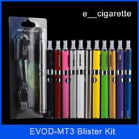 Wholesale Evod MT3 blister kit E cigarette kit mt3 tanks e cigarette EVOD atomizer Clearomizer Evod battery ego cigarette kit electronic cigarettes