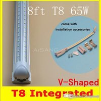 amazing energy - AMAZING ACTION V Shaped ft Cooler Door Led Tubes T8 Integrated Led Tubes Double Sides SMD2835 Led Fluorescent Lights AC V CE FC