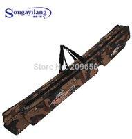 Wholesale Sougayilang Fishing Tackle Bag cm cm Fishing Rod Bag Multifunctional Camouflage Double Layer Outdoor Fishing Bag