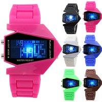 aircraft designer - New Designer Man s adult Unisex Aircraft Shape Sports Digital LED Back Light Wrist Watch Birthday Christmas Gifts