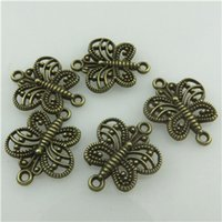 filigree findings - 20240 Vintage Bronze Alloy Filigree Animal Butterfly Connector Findings