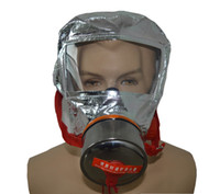 Wholesale Disposable Escape Hood Face Gas Mask Safety Breathe CO2 Easy Safe Minutes Emergency Fire Smoke Fighter Masks