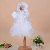 baby baptism cape - WITH HAT Cape New Baby Infant Christening Dress Baby Girl Baptism Gown Lace Satin month