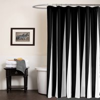 Wholesale Y20116 Shower Curtains for Bathroom High Quality Shower Curtain Printed Solid Black White Color Piece