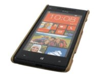apple swirl - Hard Back Cover Case for HTC Windows Phone X Brown Wood Swirl cover gas cover case skin