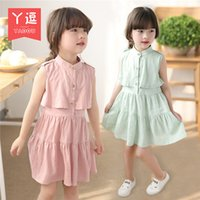 Wholesale hot selliing gril dress baby fashion dress clothes Children sleeveless Jumpsuit skirt Princess Dress